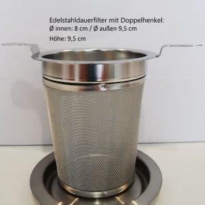 Edelstahldauerfilter Größe L 8 cm