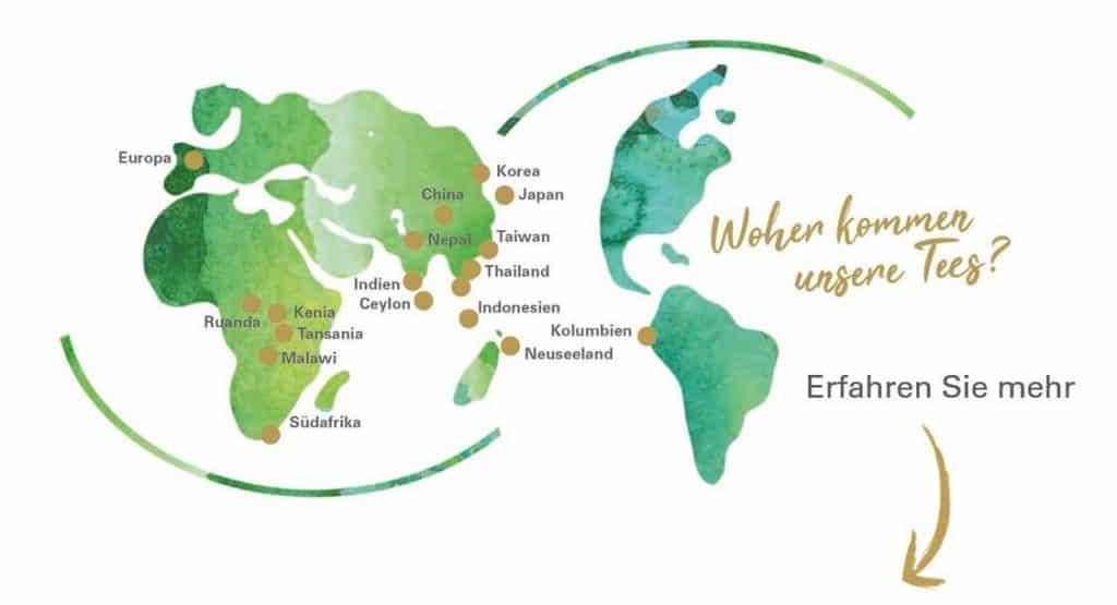 Weltkarte Tee
